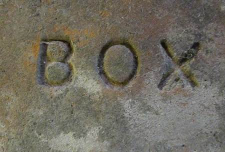 The brick was made by Edward Box's company