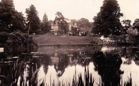 Clyffe Hall Lake in about 1920
