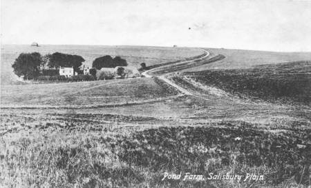 Pond Farm in Edwardian days - the loneliness of Salisburyn Plain is clear to see