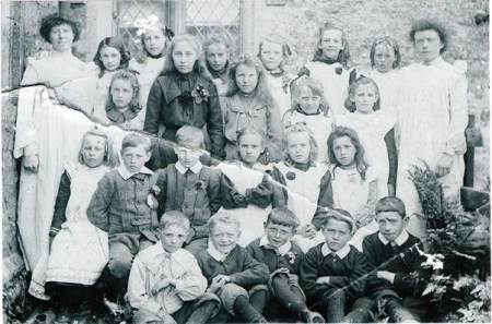 A school photo which includes Rose Polden. But which school is it?