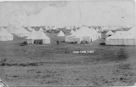 A 1909 photo of Pond Farm Camp in Easterton