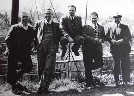 Market Lavington bell ringers of 1950