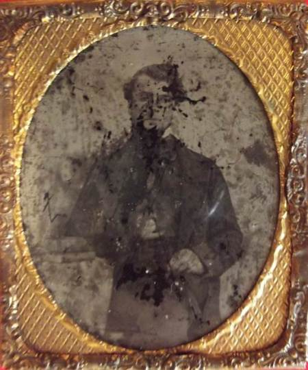 An 1861 photo - believed to be a Daguerreotype found in Market Lavington
