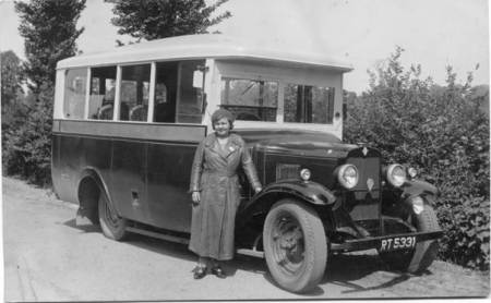 A Bodman Bus and driber between 1934 and 1940