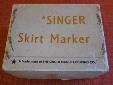A Singer skirt marker at Market Lavington Museum