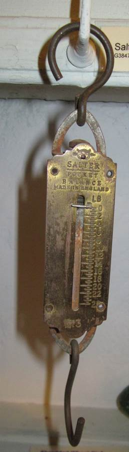Salter Model 3 pocket weighing scales at Market Lavington Museum