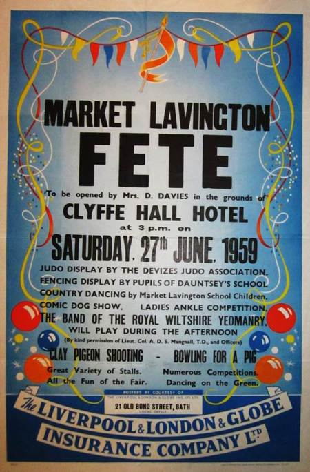 Poster for Market Lavington Fete in 1959
