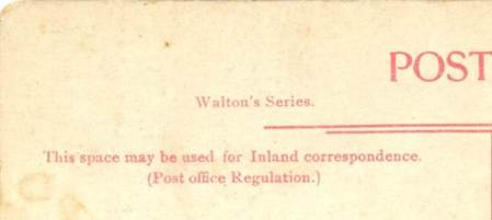 A Walton's series card