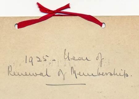 Lady Warrington rejoined in 1925