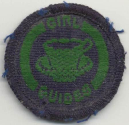 Girl Guide hostess badge earned in 1948