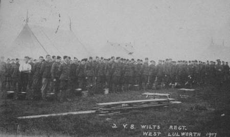 Wiltshire volunteers at camp at West Lulworth in 1907