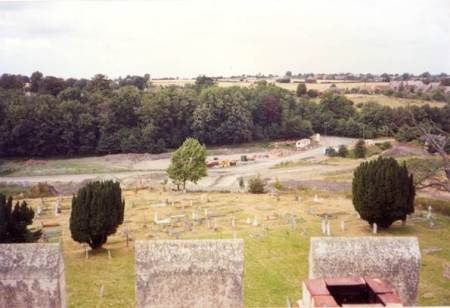 The area of Beechwood from the church tower in Market Lavington (1)