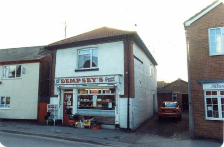 Mr Dempsey's shop on Church Street, Market Lavington - 1980s