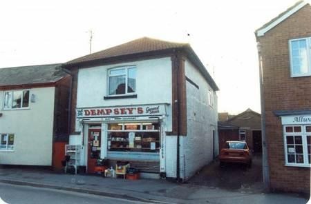 Mr Dempsey's shop on Church Street, Market Lavington - 1980s