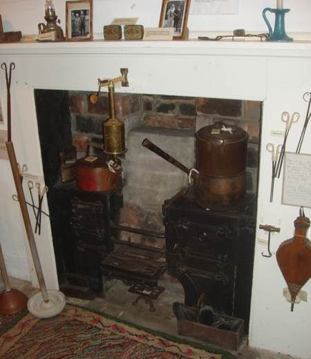 The range in the kitchen at Market Lavington Museum