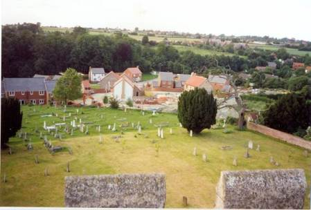 The area of Beechwood from the church tower in Market Lavington (3)