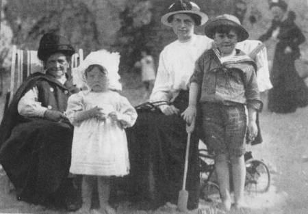 Mary Ann Matthews, born 1848 in Market Lavington is on the left.