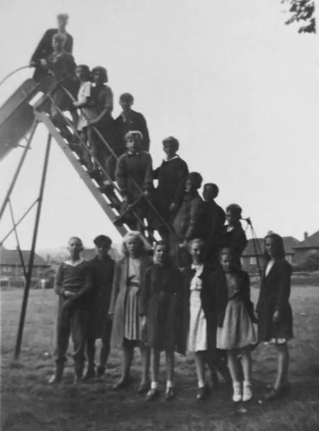 Market Lavington School - outing to Westbury in 1947