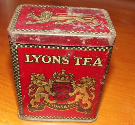 Lyons' Tea tin, possibly 1920s or 30s