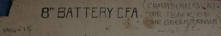 8th Battery, Canadian Field Artillery