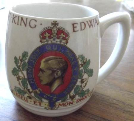 Mug (only a photo) for the coronation that never was in 1937