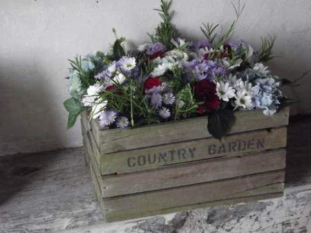 Country garden dispay at the 2012 Market Lavington Church flower festival