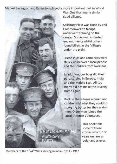 Rear cover - it features men from Easterton