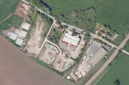 An aerial view of the old brick works site