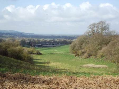 Cradle Field, West Park Farm and the view beyond