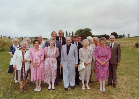 Farewell to Ralph Wilkins with Easterton Parochial Church Council - August 1990