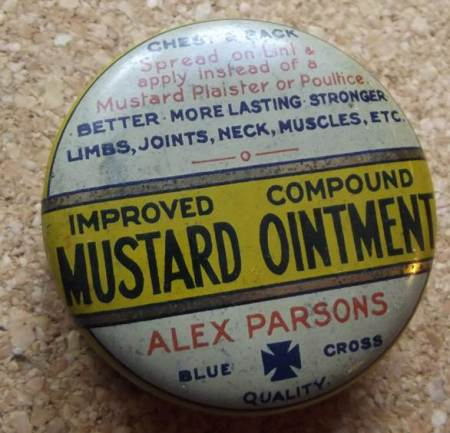 Mustard Ointment tin at Market Lavington Museum