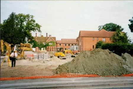 Extensions being built at the nursing home in 1996