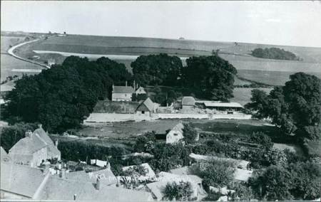 A Burgess postcard view from Market Lavington church tower