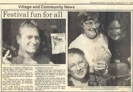News report on the 1999 Flower and Produce Show in Market Lavington