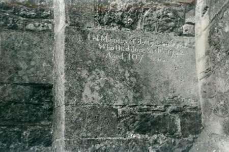 Memorial to Betty Lamborne on the south wall of St Mary's Church, Market Lavington