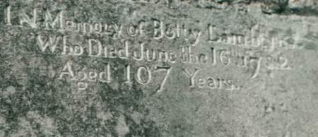 The inscription is still clearly visible