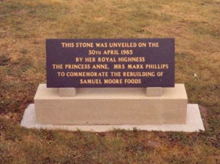 The plinth mounted plaque unveiled by Princess Anne