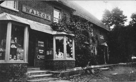 Mr Walton's shop in Easterton - early twentieth century