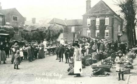 Red Cross Market in Market Lavington - 1915