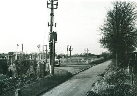 Drove Lane in 1968. It shows the site of the proposed new School