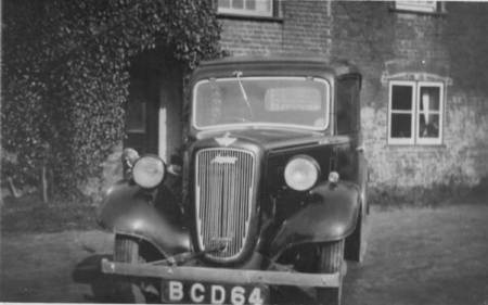 Betty Gye's first car in about 1953