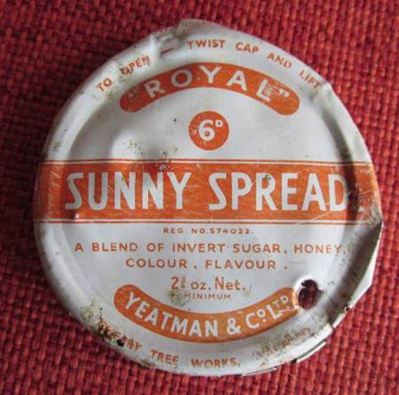 Sunny Spread jar lid - found in a Northbrook garden