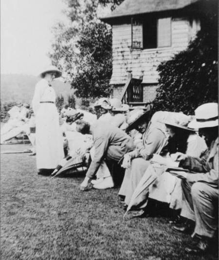 People may not have had much interest in the cricket but it was a social event at which to be seen.
