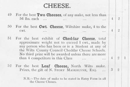 The different cheese categories