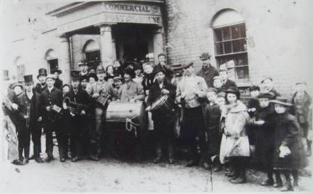 The Rough Wallopers outside the Green Dragon in about 1870