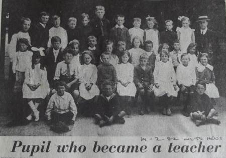 Miss Florence Ross as a very youthful teacher at West Lavington School