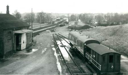 Lavington Station from the goods yard in the 1960s