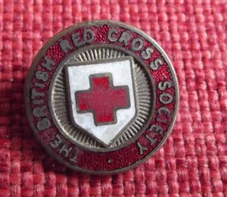 British Red Cross Society Badge found on the old recreation ground in Market Lavington