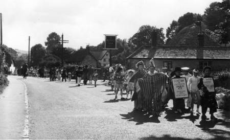 Easterton fete parade in about 1955