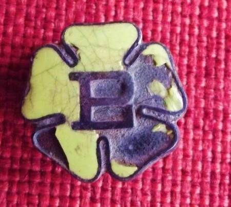 Primrose League badge - probably of pre 1920 type - found on the old recreation ground in Market Lavington